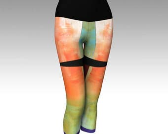 Womens Yoga Capris   Yoga Pants   Yoga Leggings   Exercise Leggings   Stretch Pants   Gym Capris   Sports Pants   Bike Leggings