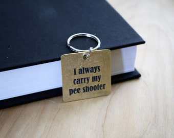 I always carry my pee shooter - Funny - Pet Tags - Pet ID Tag - Dog Tag - Dog ID Tag - Custom Dog Tag - Personalized Dog Tag - Custom Tag