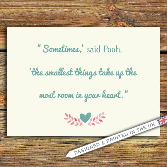 Winnie The Pooh Quotes Sometimes The Smallest Things: Winnie The Pooh Quote PRINT Sometimes The Smallest