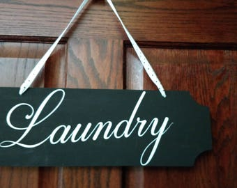 Faux Chalkboard Laundry Sign