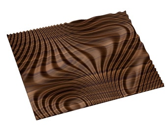Decorative abstract 3D relief op art sculpture model for CNC machining Flow 7798