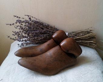 Vintage houten schoen duurt klomp schimmel schoenmaker formulieren schoenmaker mallen schoenmaker van duurt rustieke houten schoenen formulier