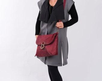 Maroon Leather Tote, Women Handbag, Laptop Bag, Transformer, Leather Backpack, Messenger Bag, Back to School, Trending Bag, Tote Bag