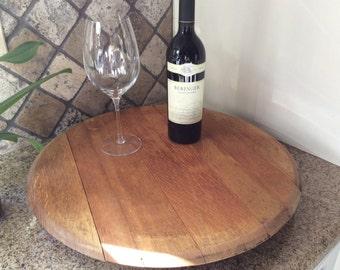 Authentic wine barrel lazy susan