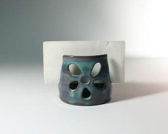 Handmade Wheel Thrown Ceramic Pottery Sponge Holder,Ready to ship, Blue Sponge Holder,ceramic sponge Holder, cermic kitchen decor