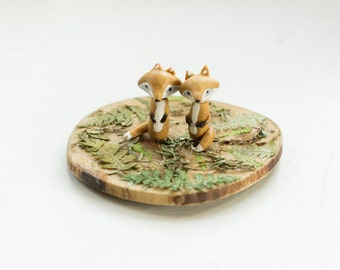 Fox Figurine Polymer Clay Handmade Gift Ideas Home decor