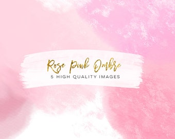 rose gold paper watercolor digital paper, Rose gold Scrapbook Paper, gradient watercolor digital paper, ombre gold rose pink texture digital