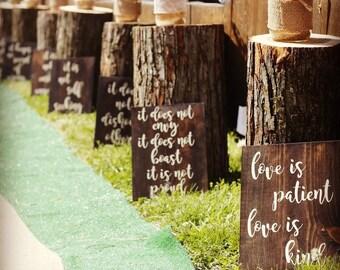 Love is Patient | Love is Kind | 1st Corinthians | Wedding Aisle Signs | Love Never Fails | Wedding Signs