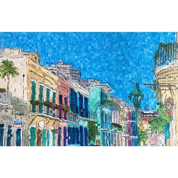 "New Orleans - French Quarter - Architectural Art: 36""x24"" Original Painting"