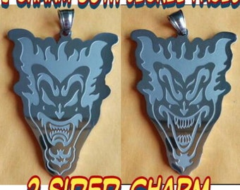 """ICP """"The Amazing Jeckel Brothers"""" Stainless Steel pendant with a 24 inch 3mm ball chain"""