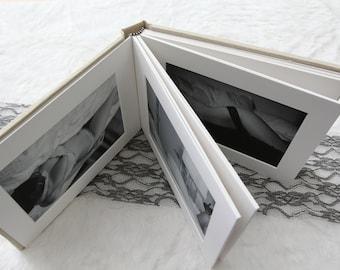 """7x9"""" Fabric Slip-In Matted Boudoir Photo Album"""