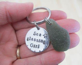 Sea Glassing Girl-Keychain