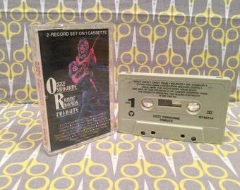 Tribute by Ozzy Osbourne and Randy Rhoads Cassette Tape rock metal