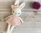 Amigurumi bunny girl,crochet bunny, crochet toy,baby bunny blossom easter, bunny dress, child gift, newborn birth gift, newborn shower gift