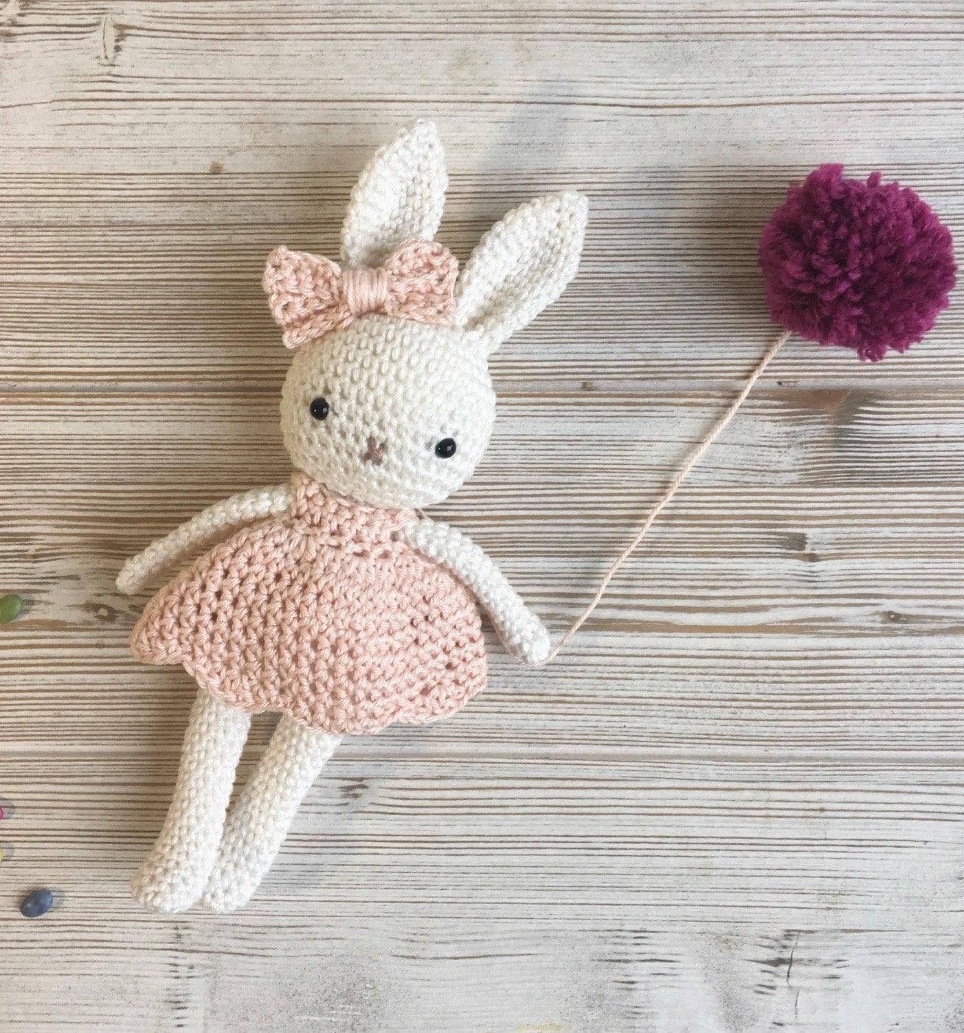 Amigurumi bunny girlcrochet bunny crochet toybaby bunny
