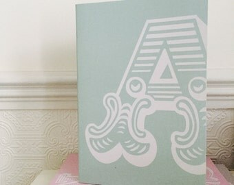 A-Z aqua / A5 Notebook with recycled paper