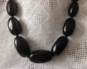 ONIX Natural stone Necklace. Large irregular Natural stones Beads. Elegant Evergreen Etnica. Natural stone, Onix necklace. SW191