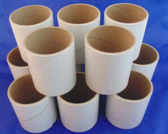 12 Heavy Duty Cardboard Tape Roll Cores Cylinders Arts And Crafts Supplies Repurpose Recycle Thick Paper Rolls