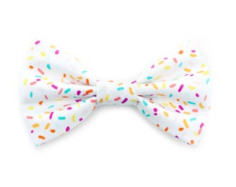 The Bijou Bow Tie — Dog Bowtie, Made in Brooklyn, Bowtied, Rainbow, Spinkle Sprinkles, Cupcake, Donut, Birthday Outfit, confetti