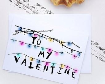 Stranger Things Valentine Card I D Fight A Demogorgon