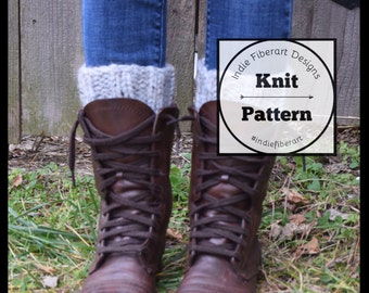 Knitting Pattern // The Taughannock Cuffs // Ribbed Boot Cuffs // Leg Warmers // Chunky Super Bulky Yarn