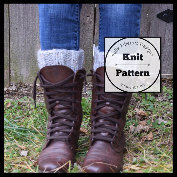 Knitting Pattern Leg Warmers Bulky Yarn : KNITTING PATTERN // The Taughannock Cuffs // Ribbed Boot Cuffs // Leg Warmers...