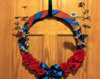 Sparkling Flower 4th of July Wreath