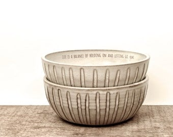 RUMI quote handmade soup bowl. Poppy flower art. inspiration bowl. ceramic unique bowl. Poetry bowl.  IN STOCK