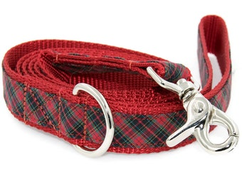 Tartan Dog Leash - Matches my Tartan Personalized Dog Collars