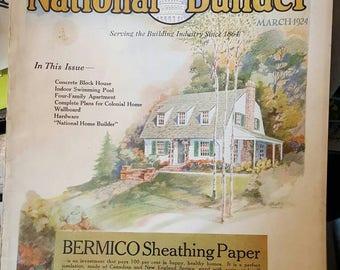 National Builder Magazine, March 1924