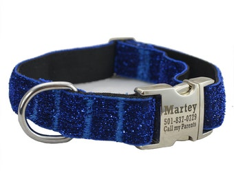 Personalized Dog Collar, 3/4 inch,Sparkle Glitter