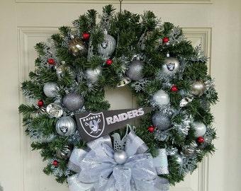 Raiders wreath | Etsy