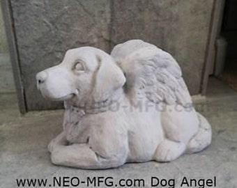 "Dog puppy Angel Heaven sculpture statue memorial  www.Neo-Mfg.com 8.5"""