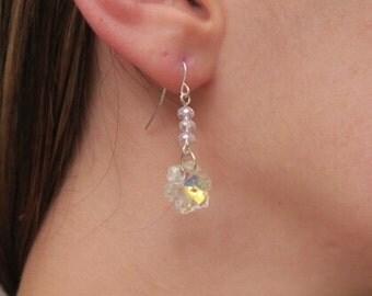 Crystal Beaded Snowflake Earrings