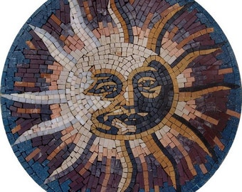 Sun Accent Mosaic Rondure - Shams I