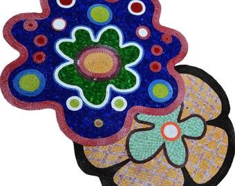 Flower Marble Mosaic Designs