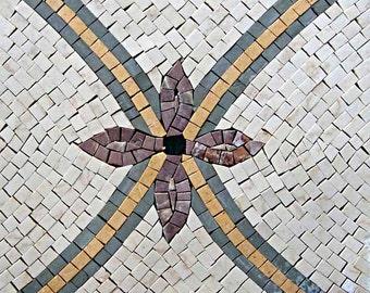 Mosaic Wall Tiles - Hydrangea Ribbons