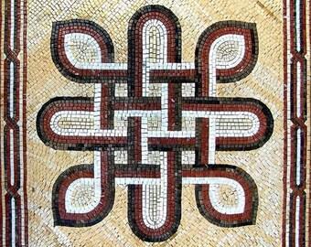 Roman Guilloche Mosaic - Orions