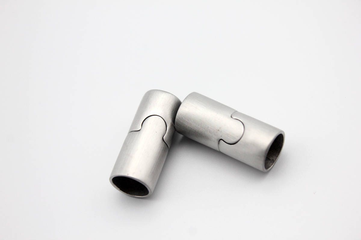 Mm round hole brushed stainless steel magnetic clasp