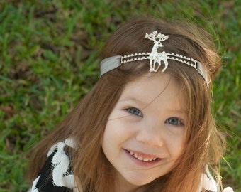 deer headband - reindeer headband - deer outfit - Stag headband - girl's Christmas headband - headband - girl deer outfit - woodland