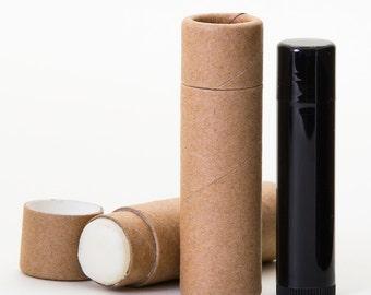 Eco Friendly 1/3 OZ Kraft Lip  Balm Tubes  -    Kraft Cardboard 100% Biodegradable Cosmetic Push Up Tubes  -  12 PACK