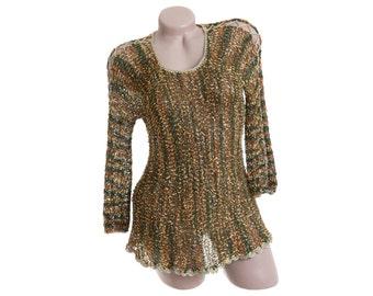 Loose knit top, Multicolored top, Light crochet top, Light sweater, Multicolor sweater, Loose knit sweater, Loose knitwear