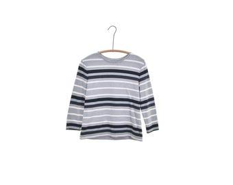 striped shirt vintage 90s shirt normcore shirt 90s grunge shirt gray black white stripes hipster shirt 90s t-shirt 90s tee cotton shirt s m
