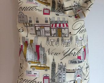 Laundry bag, Paris Print Bag, Laundromat Bag, Gift for Her, Travel Laundry Bag, Canvas Laundry Bag, College Student Gift, Christmas Gift