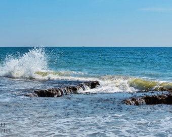 Splish Splash Instant Photo Download, Insta-Photo, Landscape Photography, Chesapeake Bay, Grandview Island, Horizon, Escape, Water, Blue