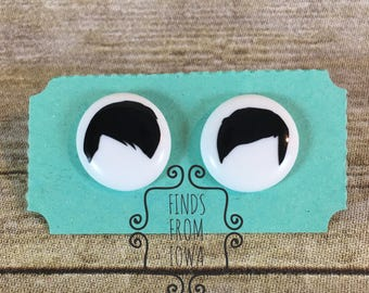 Dan and Phil Black and White Earrings