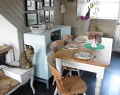 Upcycled Pine Farmhouse kitchen table  4 chairs