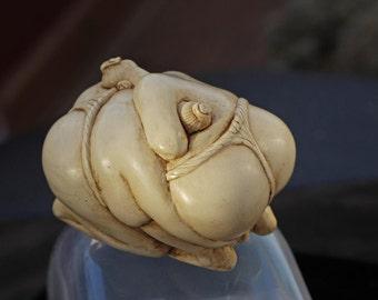 Sumo   -Netsuke Style Sumo Wrestlers- Ornament