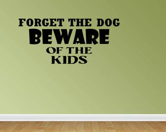 Wall Decal Quote Beware The Kids Vinyl Wall Decals Vinyl Letters Wall Quotes Playroom Decal Kids Room (PC170)