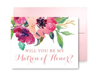 Will You Be My Bridesmaid Card, Bridesmaid Cards, Ask Bridesmaid, Bridesmaid Maid of Honor Gift, Matron of Honor, Flower Girl #CL162